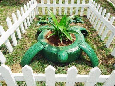 Reciclar Ruedas Em El Jardin Diy Garden Diy Garden Decor Diy Garden Projects