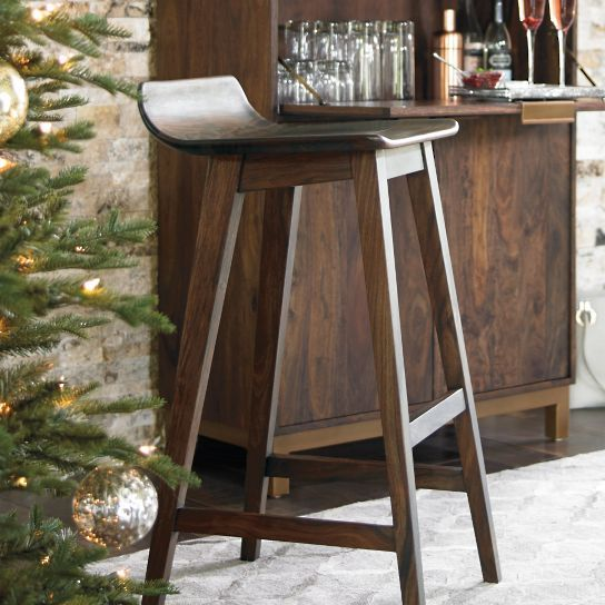 Magnificent Subtly Contoured Seating Makes The Handcrafted Oak Park Bar Caraccident5 Cool Chair Designs And Ideas Caraccident5Info