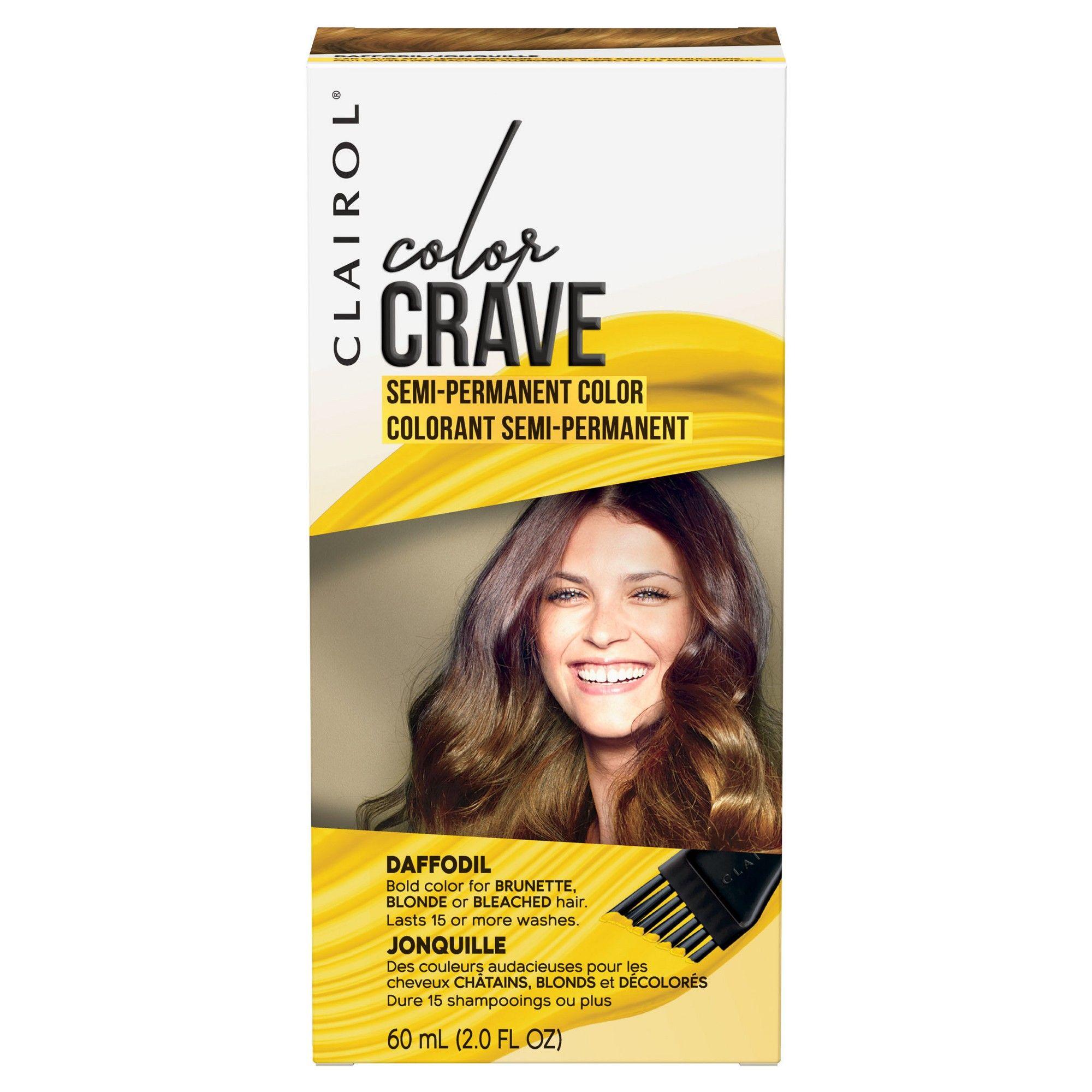 Clairol Color Crave Semi Permanent Daffodil Yellow 2oz Semi