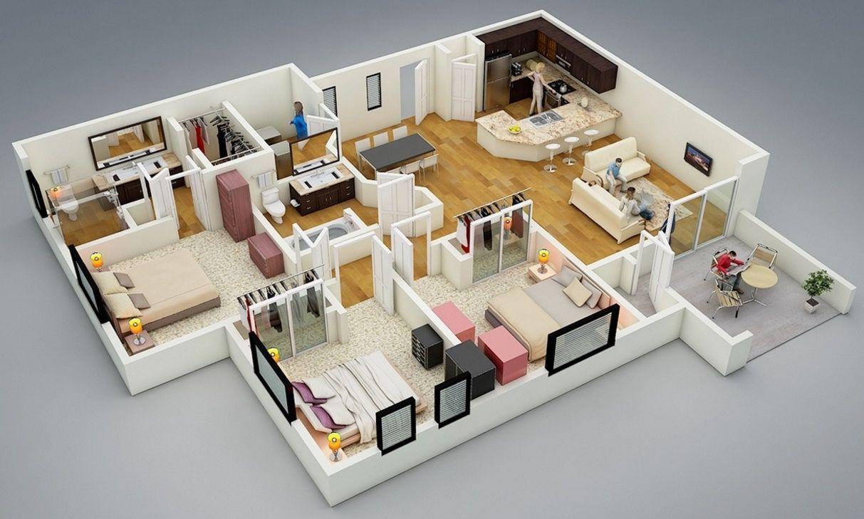 Hauspläne 3d  plano casa moderna | dream house | Pinterest