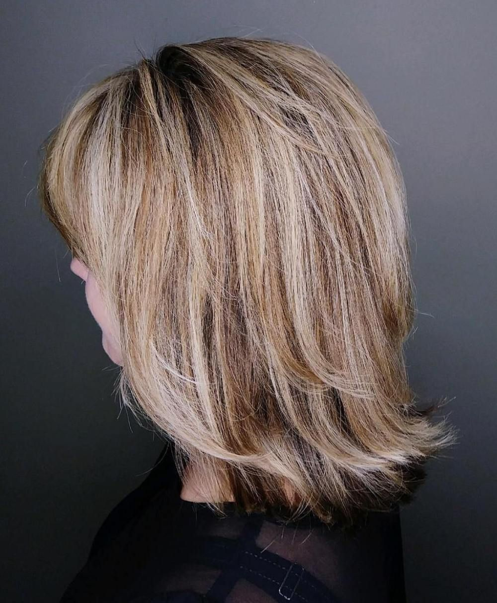 medium hairstyles for thick hair over 50