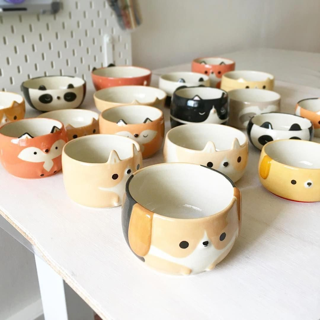 Pin By Kylie Ruan On Cute Ceramics Ceramic Tableware Ceramic Painting Pottery Animals