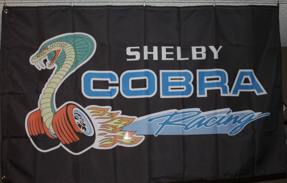 Ford Shelby Cobra Racing Car Banner Flag 3x5 Man Cave Garage