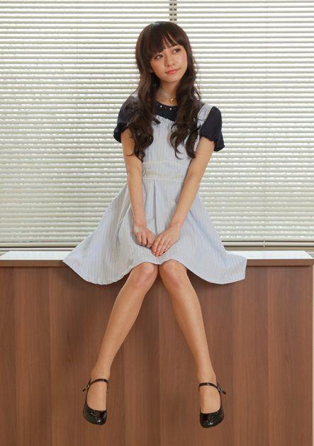 axes femme online shop|ストライプ刺繍入りワンピース