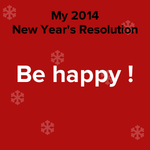 My new year's resolution for 2014 :-)
