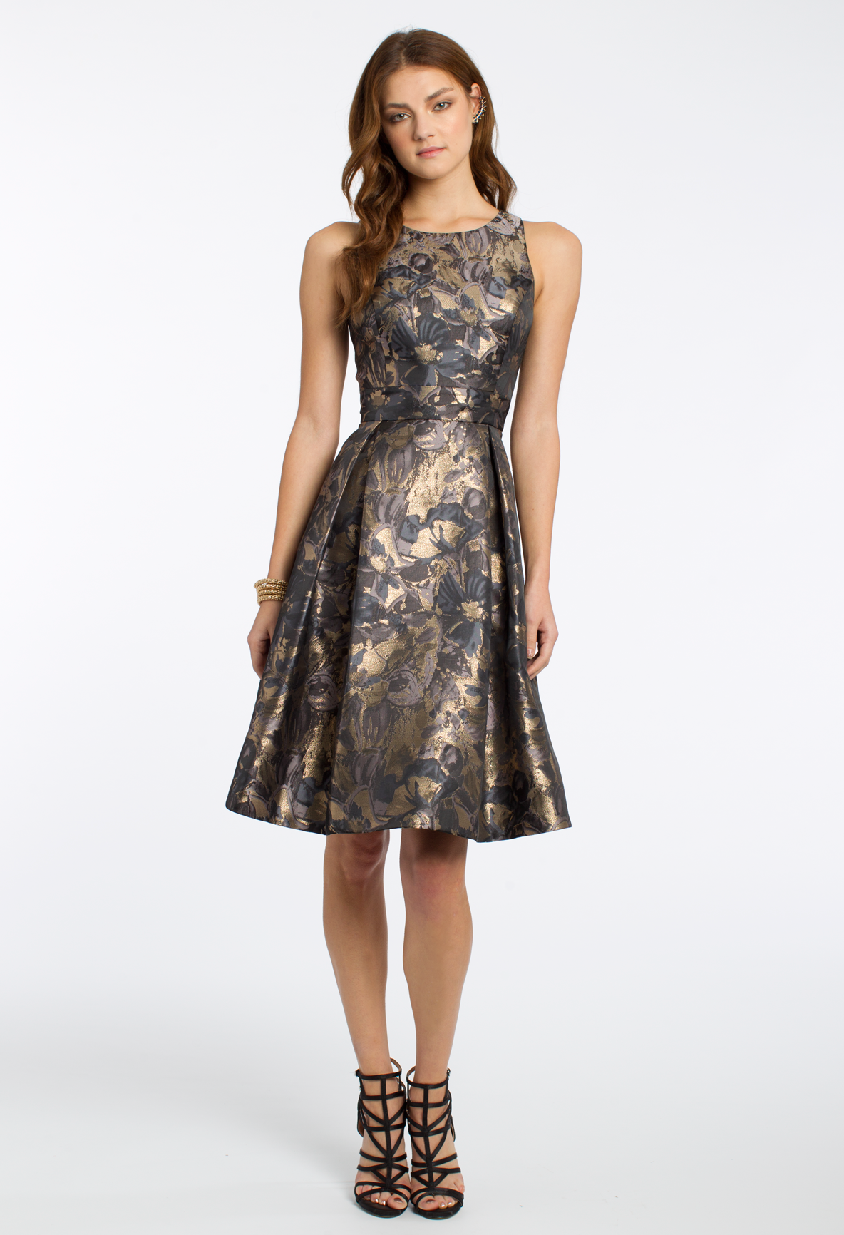 For Low Key Shine Slip Into This Stunning Cocktail Dress For Your Next Formal Affair The Brocade Pleated Midi Style Fit A Dresses Party Dress Cocktail Dress [ 1732 x 1184 Pixel ]