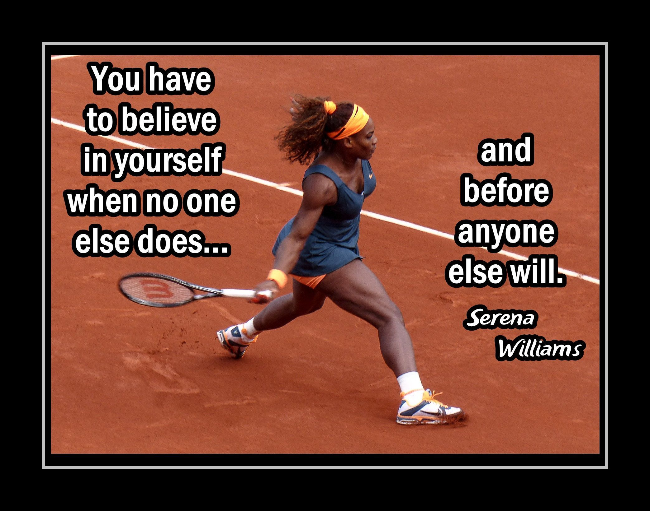 Inspirational Tennis Quote Wall Art Daughter Best Friend Birthday Gift Serena Williams Motivati Inspirational Tennis Quotes Tennis Quotes Tennis Quotes Funny