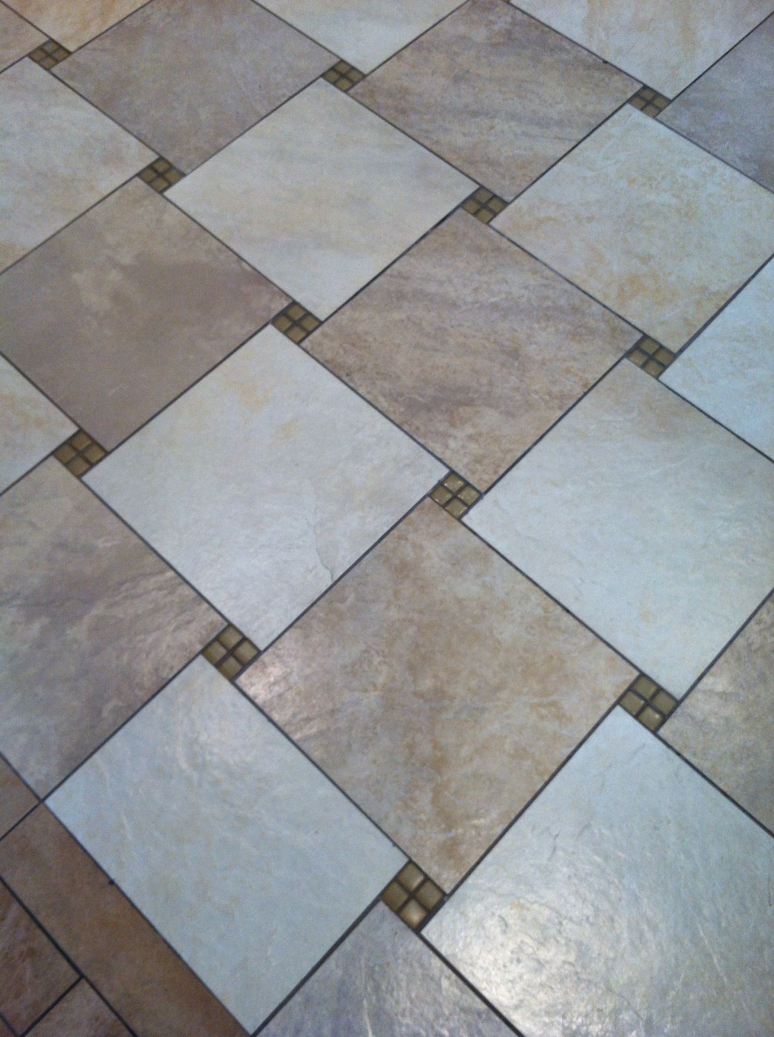 Floor Tile Pattern Makes A Change From The Norm Floortiles