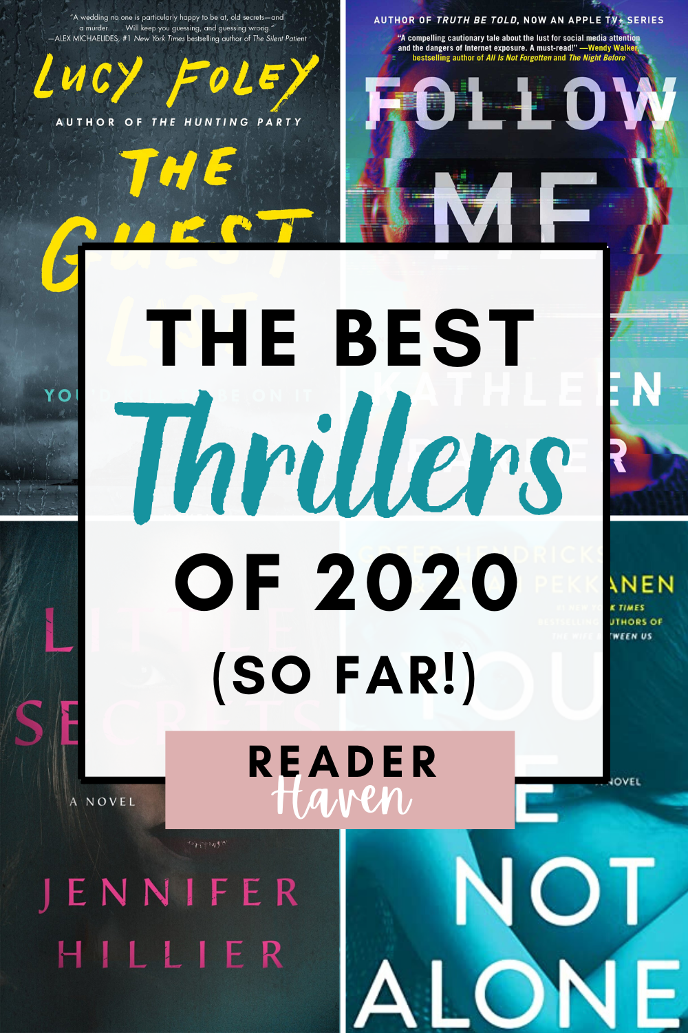I've been on a huge thriller kick lately. So to my delight, this year's new book releases have been killing it in the thriller genre! Here are the best thrillers (books) in 2020 so far. #books #booklist #whatoread #bookstoread #thrillers
