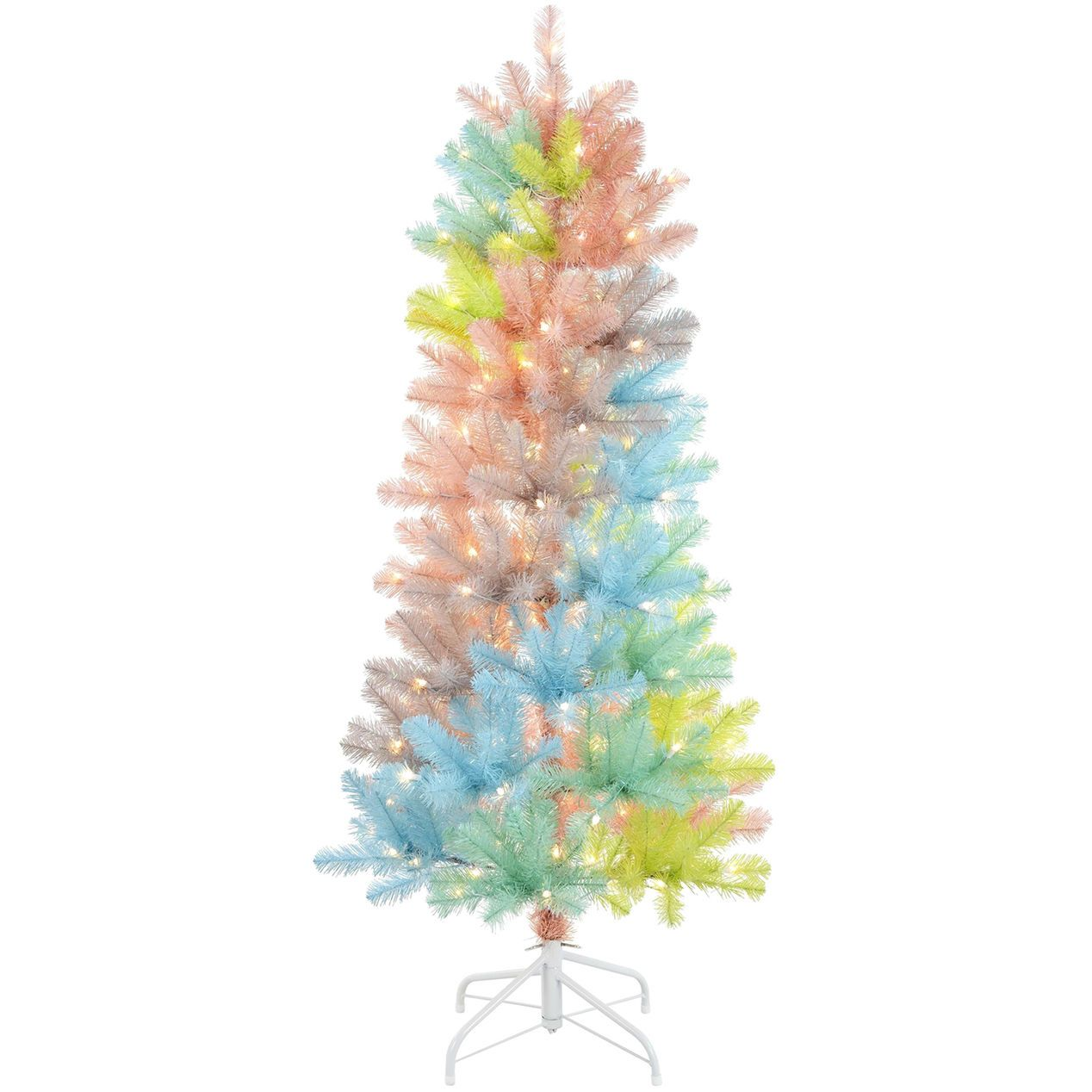 At Home F6 5ft Pre Lit Unicorn Christmas Tree Rainbow Christmas Tree Christmas Tree Shop Christmas Trees For Kids
