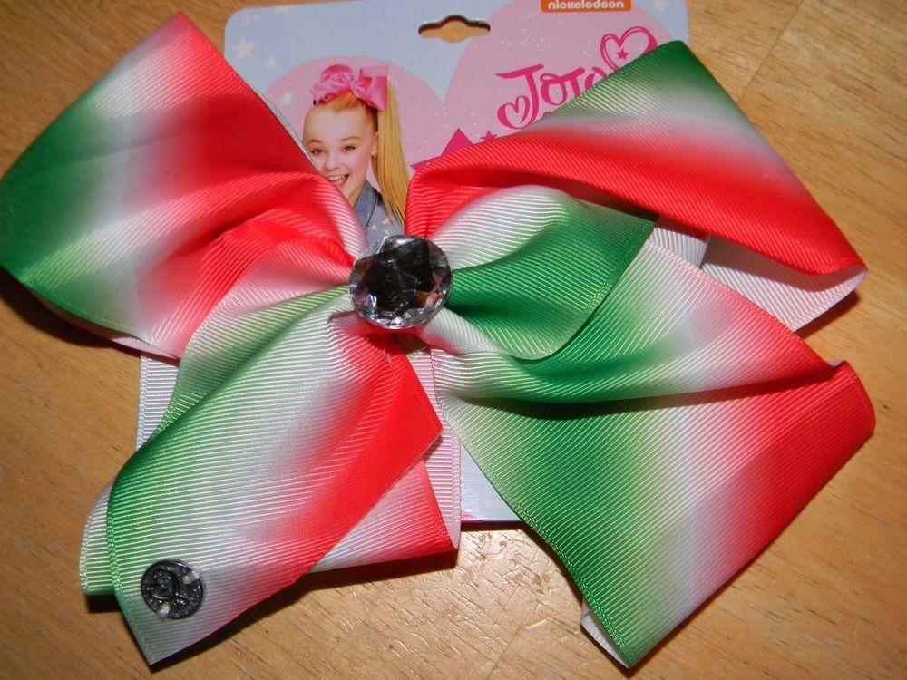 new jojo siwa nickelodeon signature large hair bow christmas holiday bow