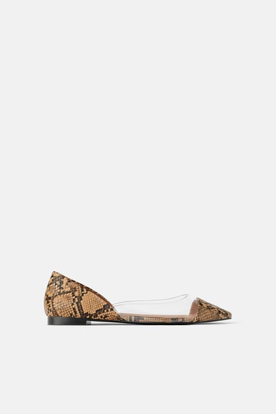 ZARA NEW WOMAN Vinyl Slingback Shoes High Heel 35 42 Ref