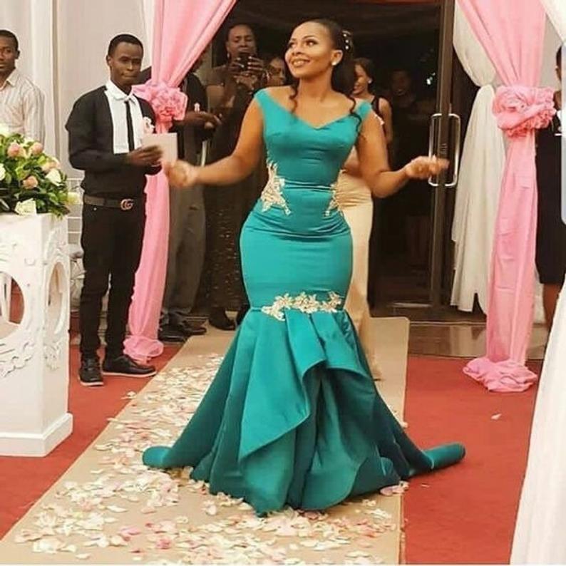 reception dress,party dress,prom dress,African wedding guest African print mermaid dress,African clothing for women,African wedding dress