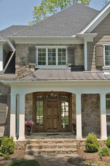 Like This Curved Metal Roof Over Front Porch With An Arch In The