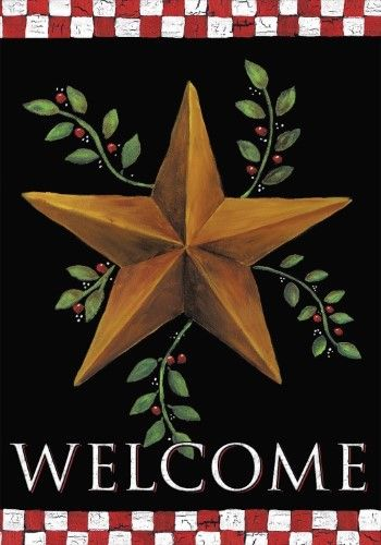 "Winter Saltboxes Primitive Garden Flag Welcome 12.5/"" x 18/"" Briarwood Lane"