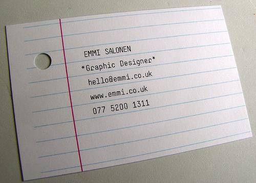 Notebook paper designed business card 41 ontwerp design notebook paper designed business card colourmoves Gallery