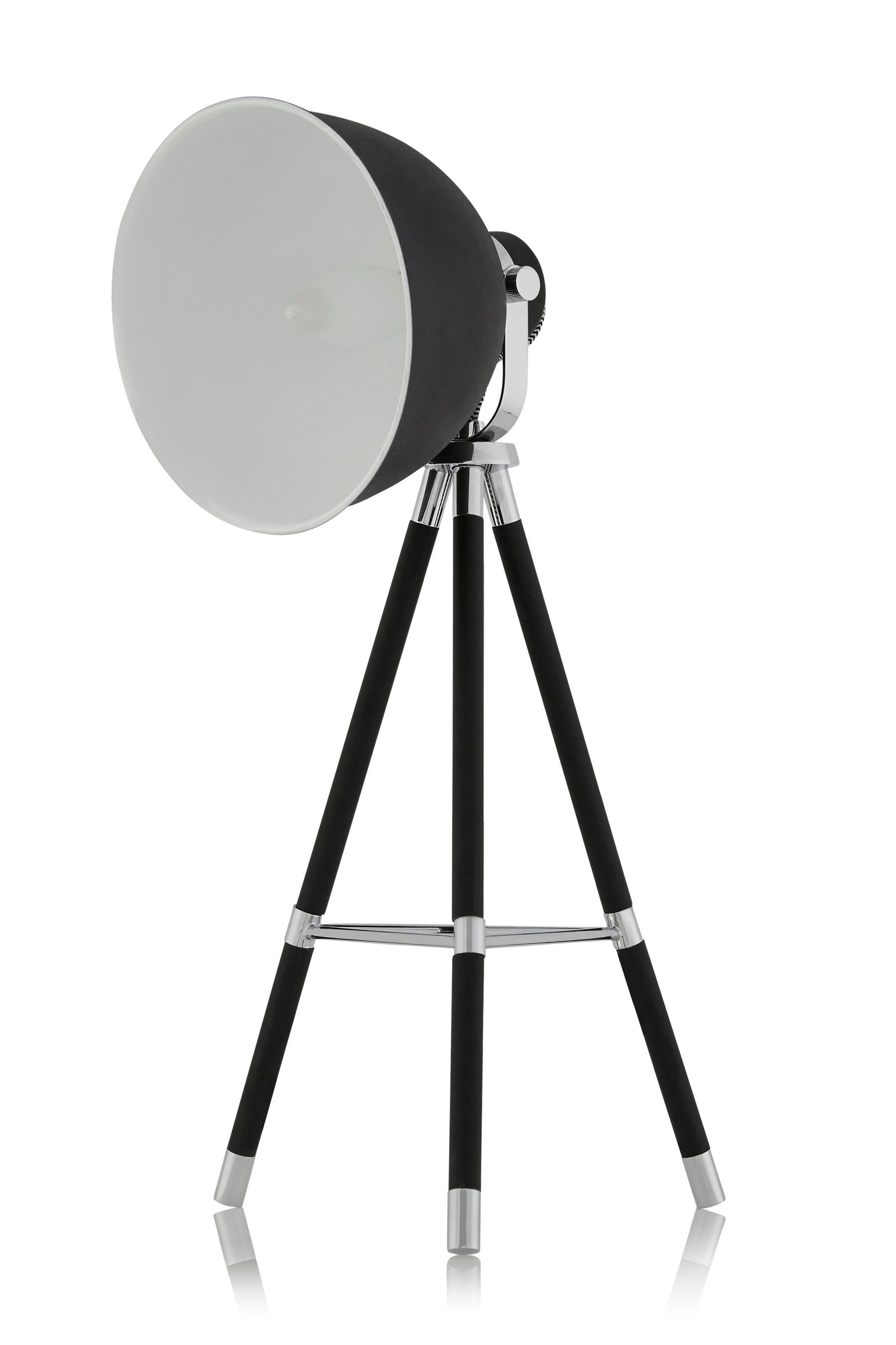 Buy Studio Textured Black And Chrome Tripod Table Lamp ...