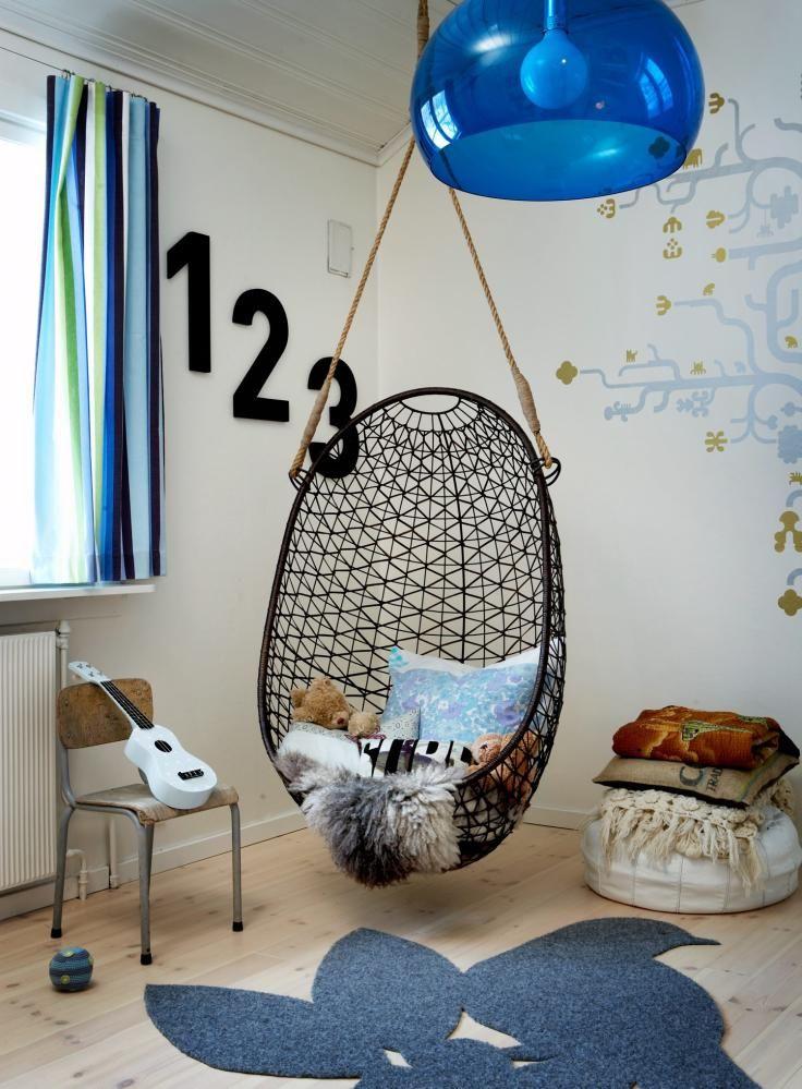 Hanging net chair   Kids room area rugs, Kids room furniture