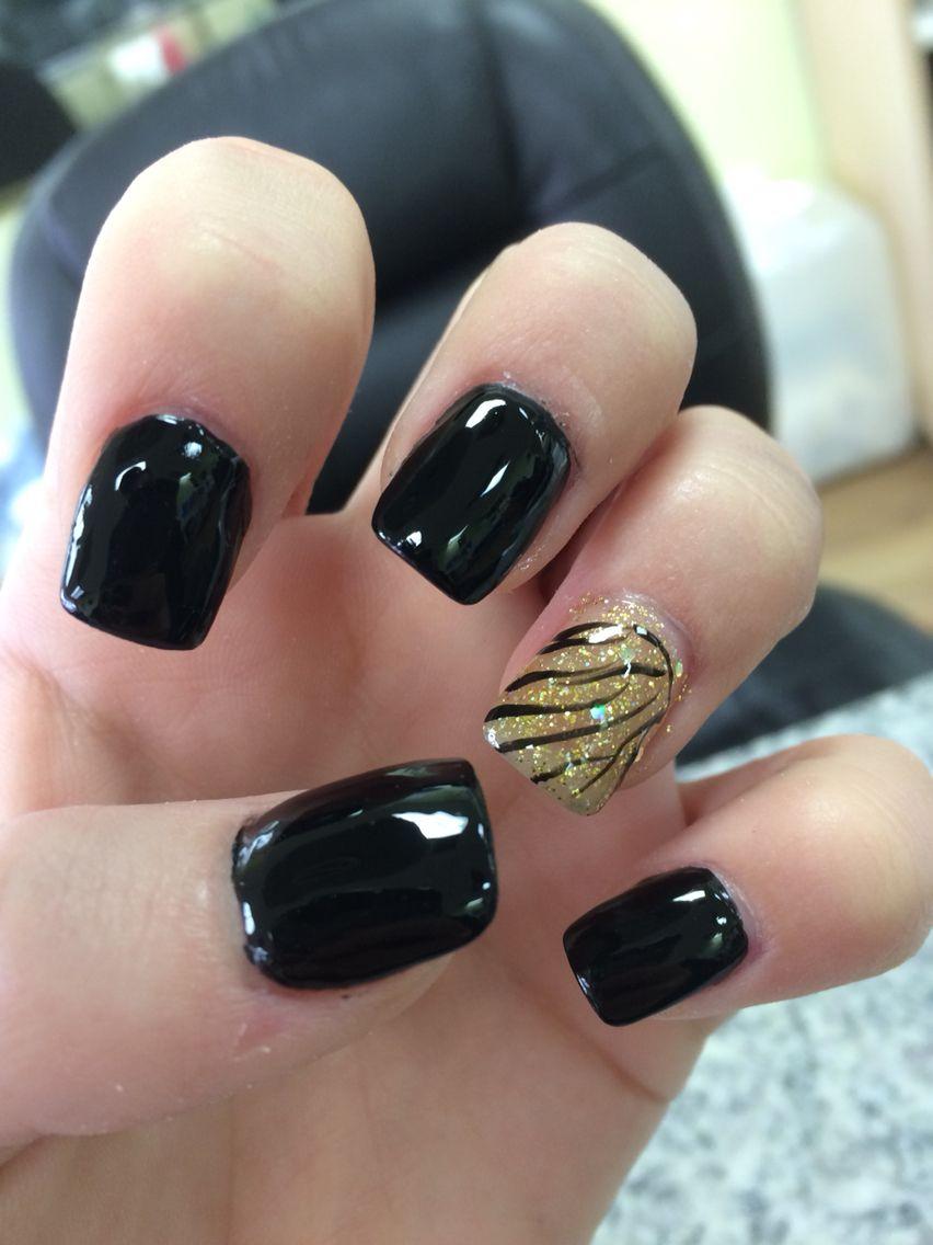 Nail Swag Nails Designs Nail Cute Black And Gold Designs Nails