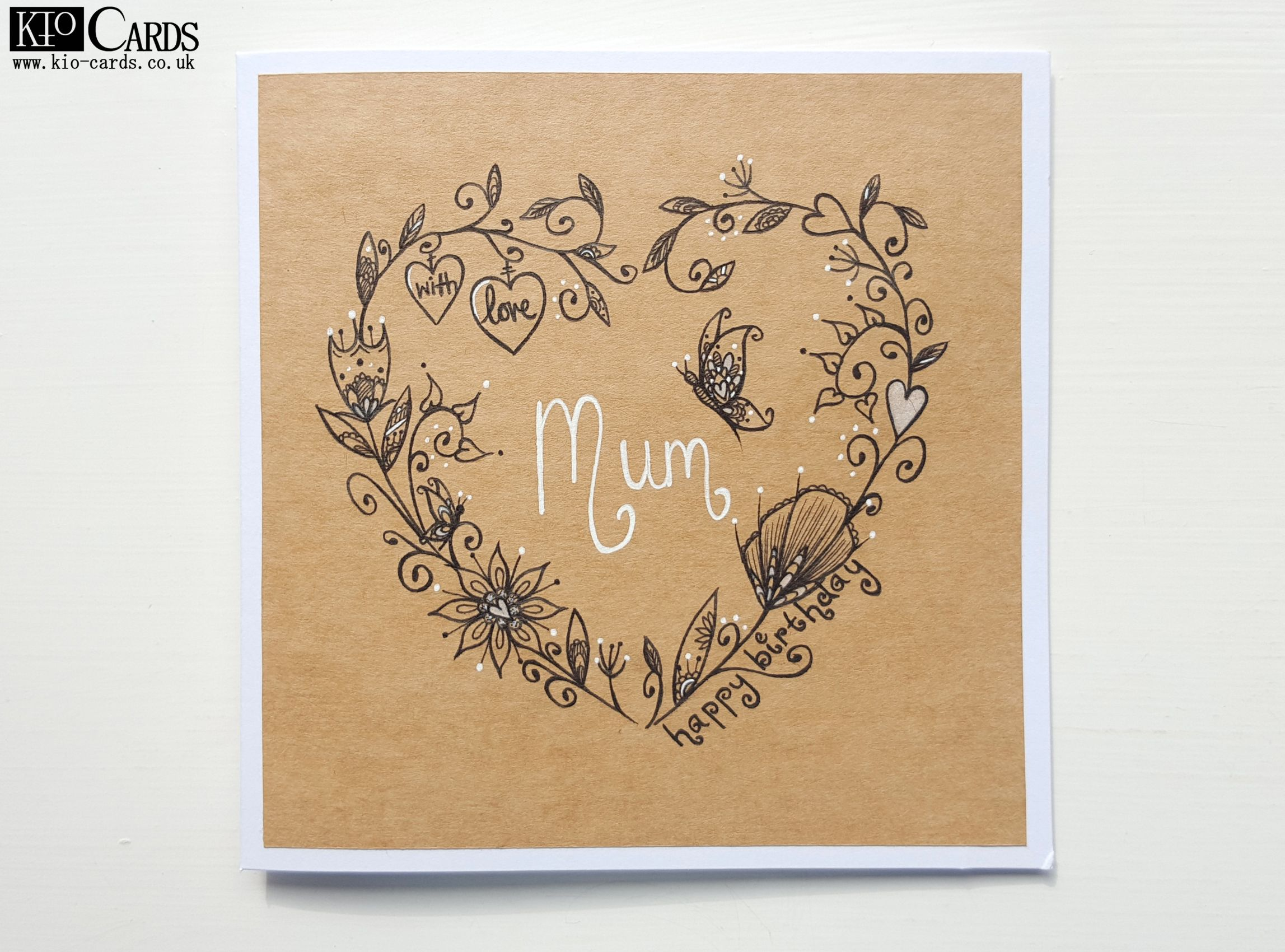 25 best mum birthday card ideas on pinterest mom birthday funny this beautiful butterfly card is sure to make your mums day extra special hand drawn lovely heart garland intertwined with hearts and flowers and with dhlflorist Choice Image