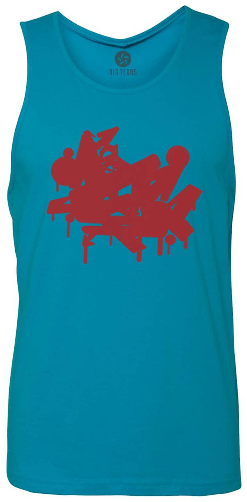 Graffiti (Red) Tank-Top T-Shirt