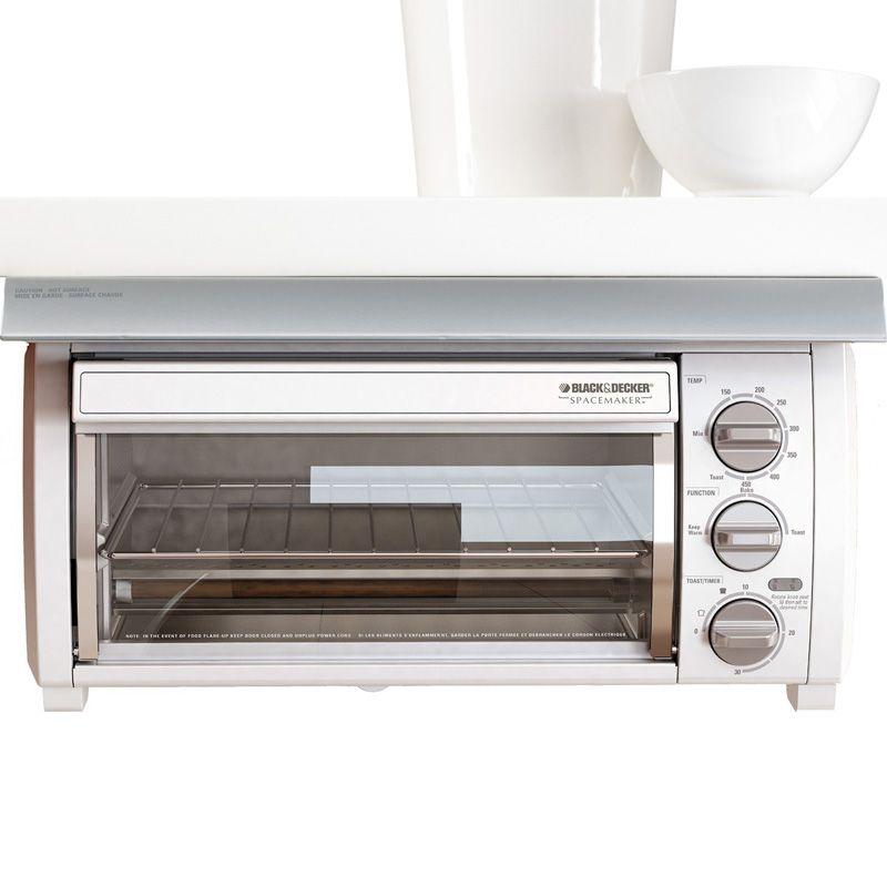 Black  Decker Under Cabinet Spacemaker Toaster Oven Bake Broil Cook  Toast  coffepotforgene