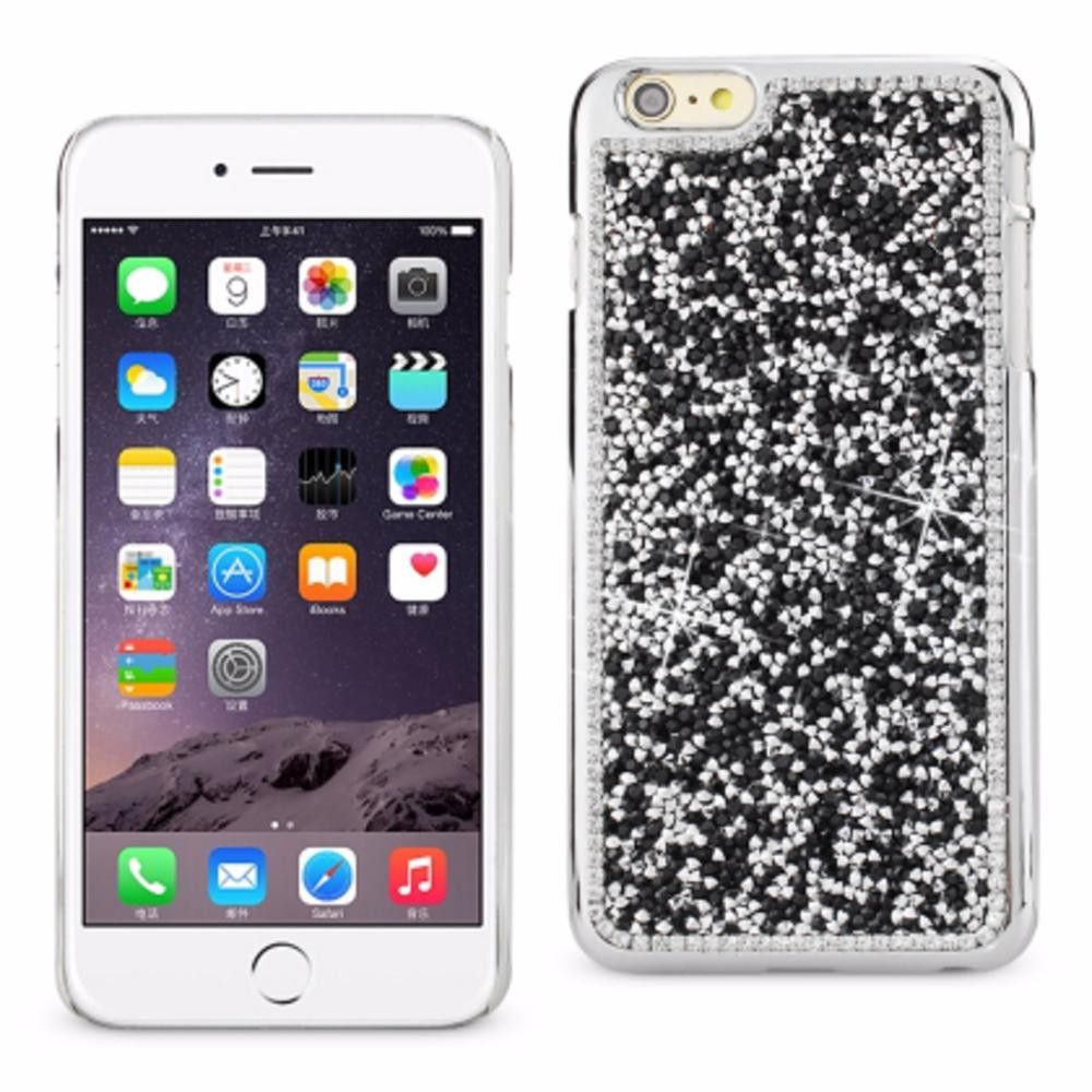 Reiko Iphone6-6S Plus 5.5Inch Diamond Protector Cover Black With Beauty Glitter Rhinestone