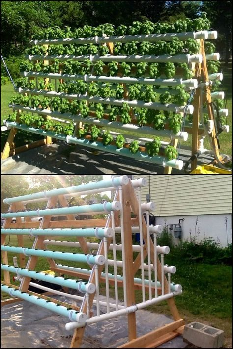 Grow More Produce in Your Backyard by Building This A-Frame Hydroponic System #gardening