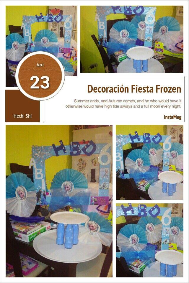 Decoraci n frozen marco fotograf co reciclado base para for Marco polo decoracion