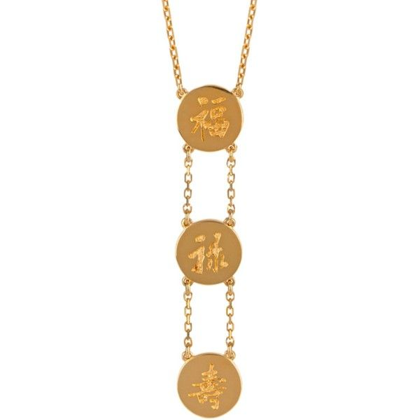 Liwu Jewellery - Three Lucky Stars Gold Plated Necklace featuring polyvore 38c15eddd89