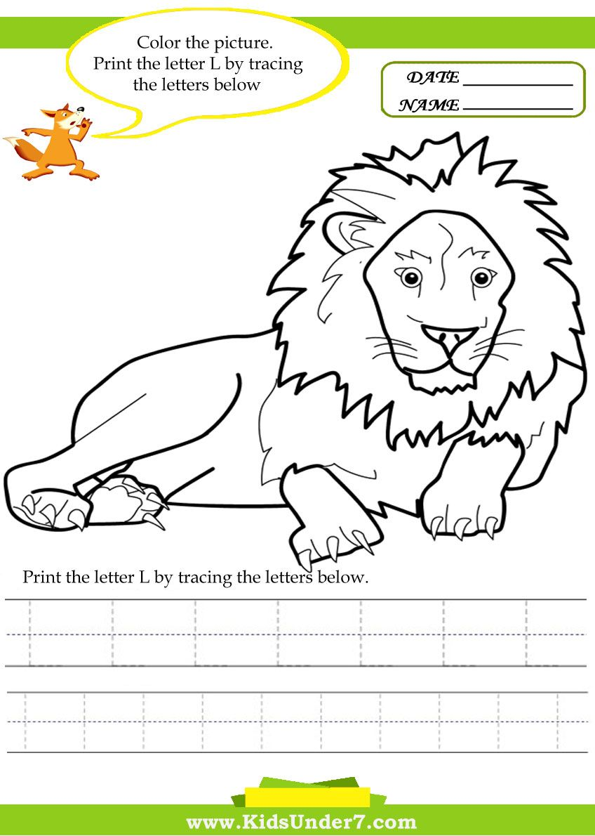 worksheet Letter L Worksheets alphabet worksheets trace and print letter l traceable letter