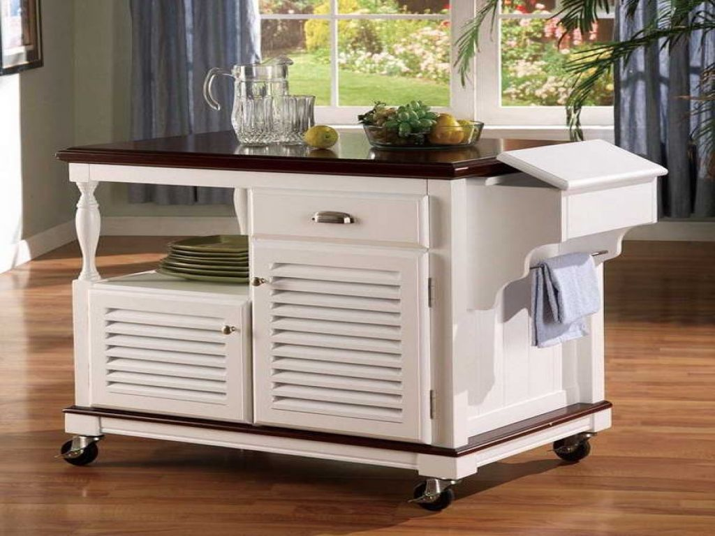 55+ Meryland White Modern Kitchen island Cart - Interior Paint Color ...