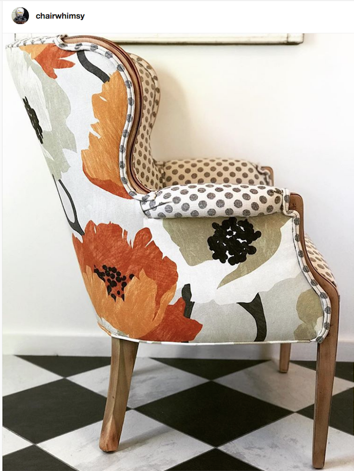 Upcycled Armchair Refurbished Armchair Upcycling