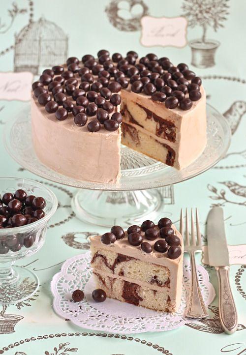 Mocha Marble Cake Recipe!