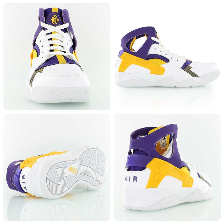 buy popular 2d995 251ca Nike Air Flight Huarache in a new Lakers themed colorway, which used to be  a Player Exclusive (PE) for Kobe Bryant before he got his first Nike  signature ...
