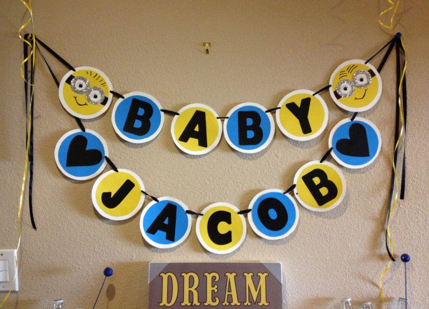 Minion Baby Shower Banner