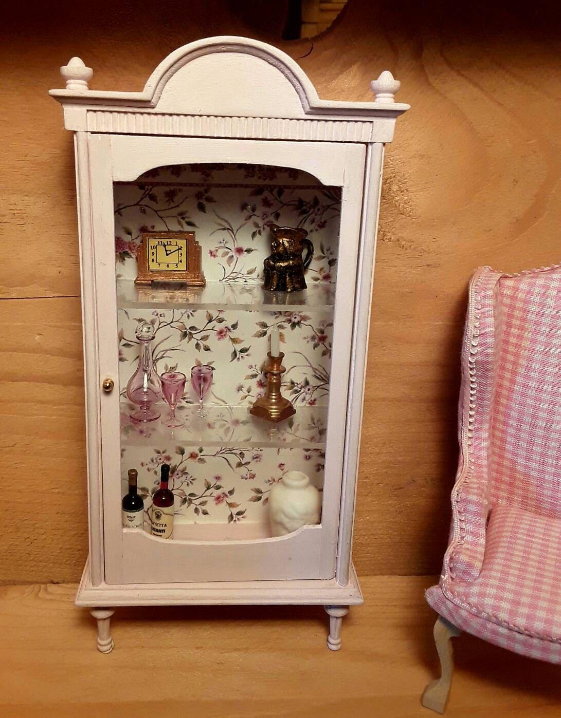 Vitrina miniatura shabby chic incluye decoración interior by ...