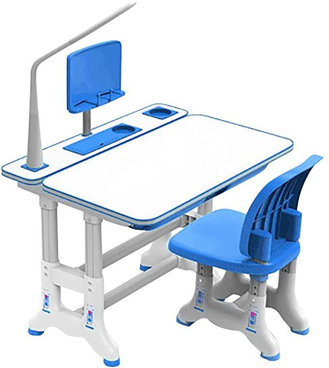 Amazon Com Children S Desk And Chair Set Kids Desk Height Adjustable Children Study Desk C In 2020 Childrens Desk And Chair Desk And Chair Set Adjustable Height Desk