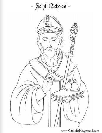 Saint Nicholas Coloring Page December 6th St Nicholas Day Saint Coloring Catholic Coloring