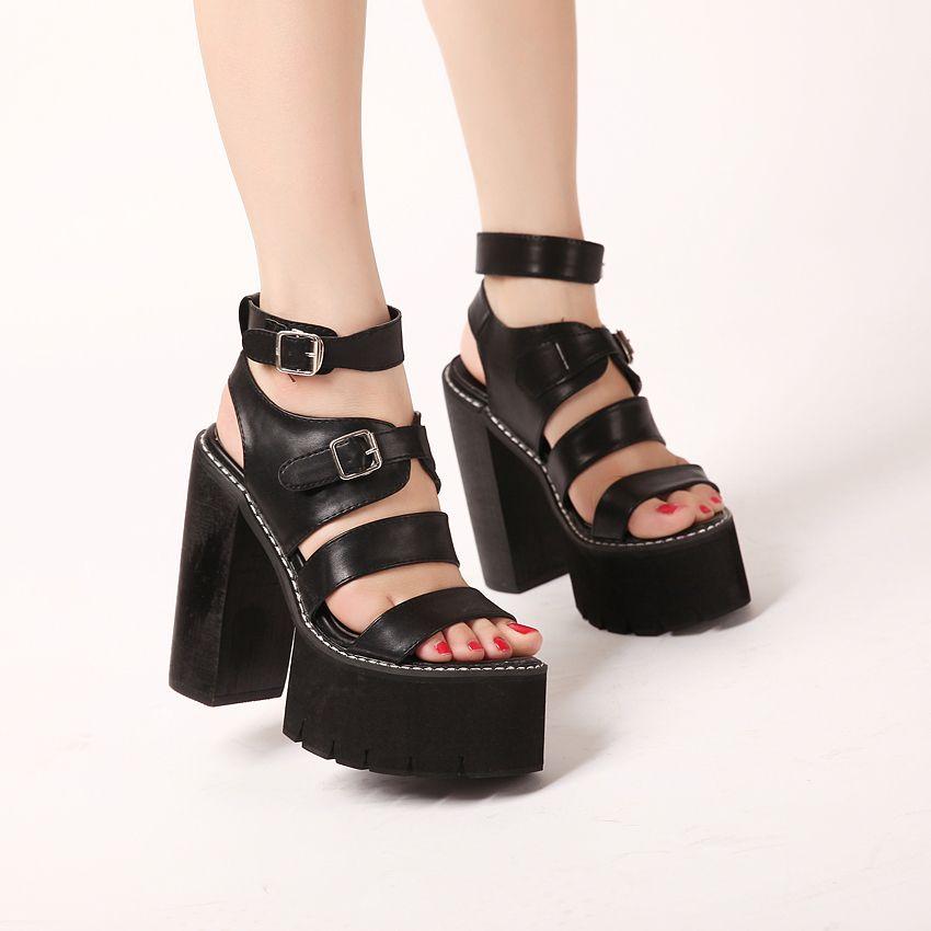 Сексуальная обувь на небольшой платформе