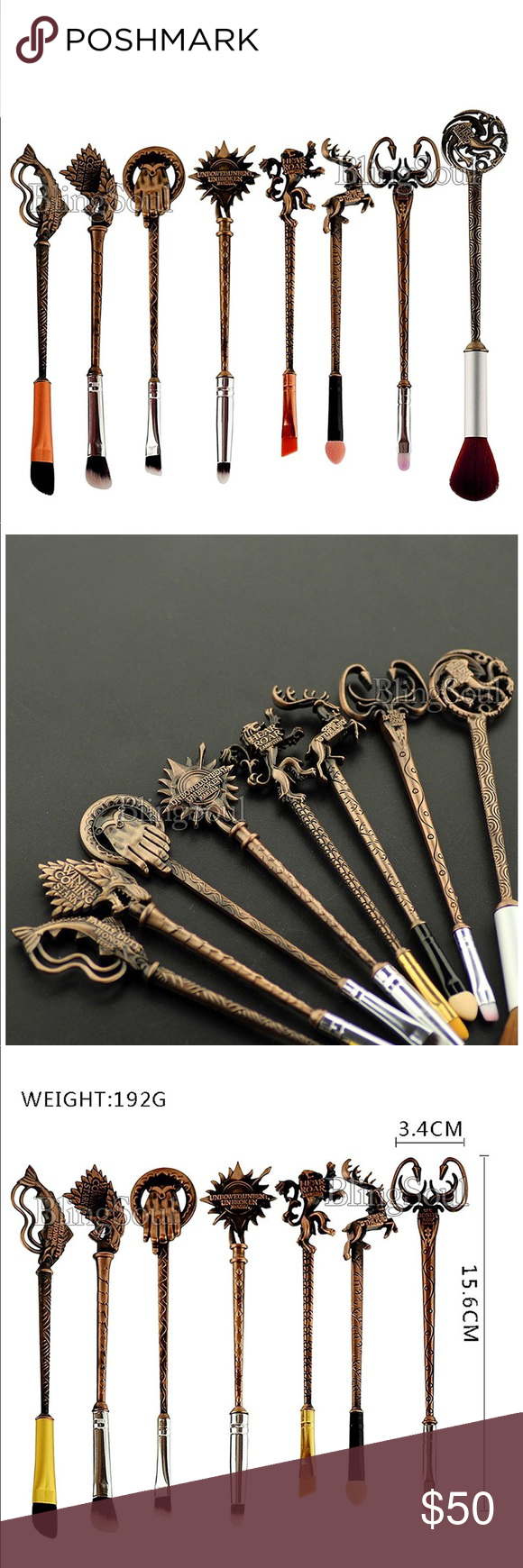 *NEW* Game Of Thrones Brush Set 10 pieces all designed