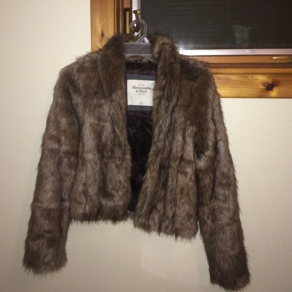 Fur coat A&F Great fur coat! Was worn only once, in a great condition ! Abercrombie & Fitch Jackets & Coats