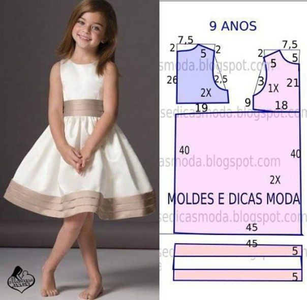 Платье для девочки своими руками: как 23