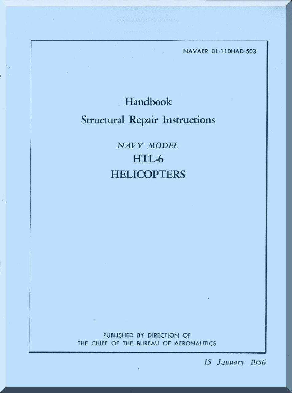 Bell Helicopter HTL6 Structural Repair Instructions Handbook Manual -  Aircraft Reports - Aircraft Manuals - Aircraft Helicopter Engines  Propellers ...