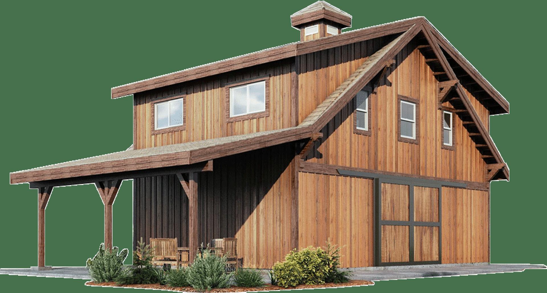 Oakridge Apartment Barn Kit Wood Barn Home Kit Dc Structures Barn House Kits Barn House Small Barn Home
