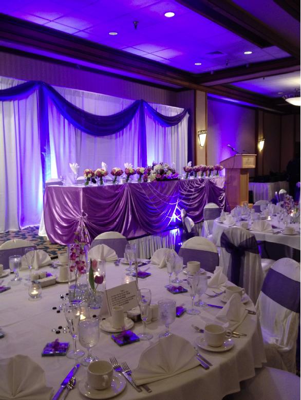 Wedding Reception Head Table Setup