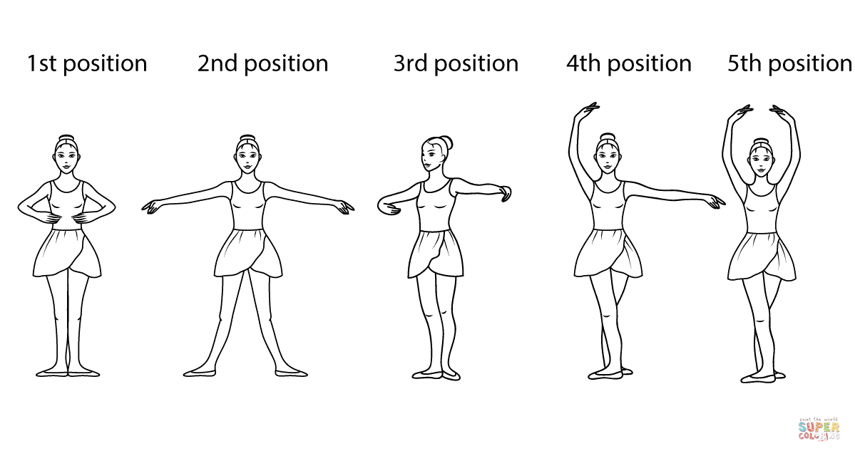 Ballet Positions Coloring Page From Category Select 27007 Printable Crafts Of Cartoons