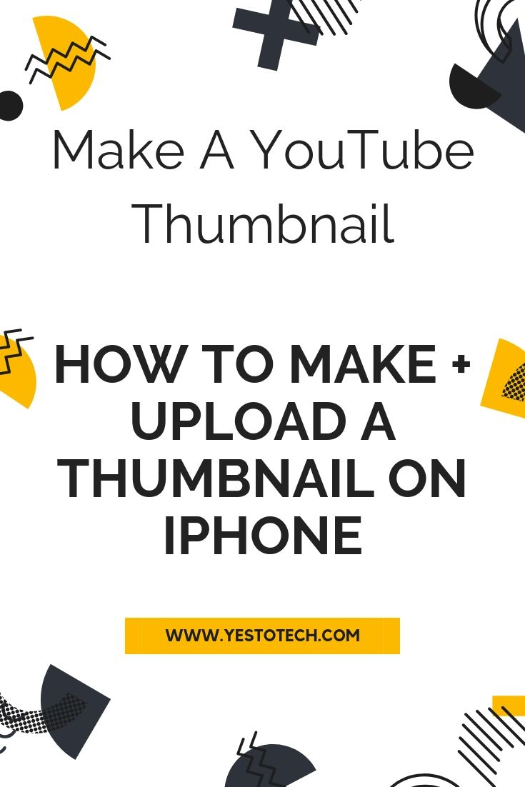 How to make a thumbnail on iphone how to upload a