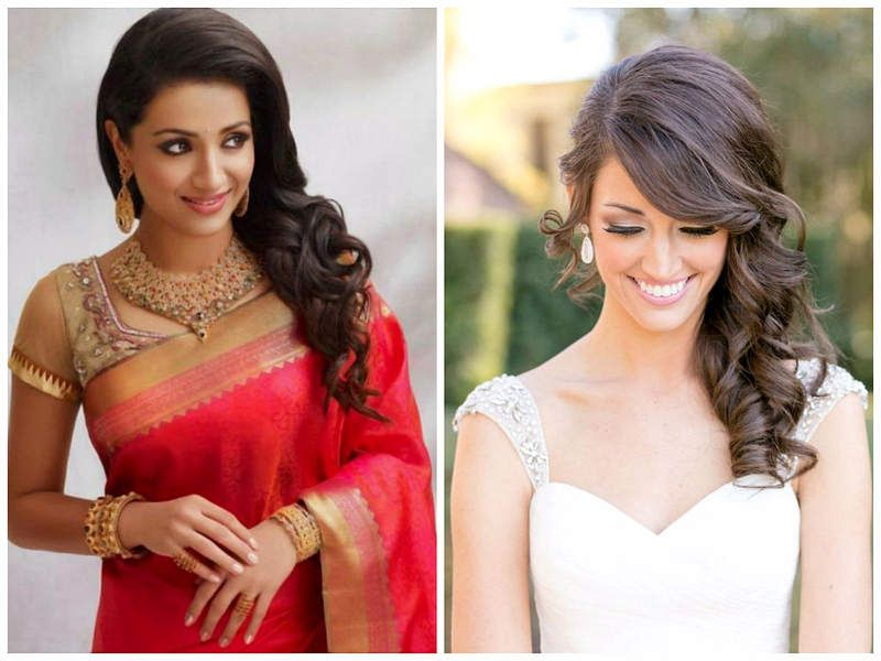 Indian Wedding Hairstyles For Medium Length Hair To Adorn Wedding