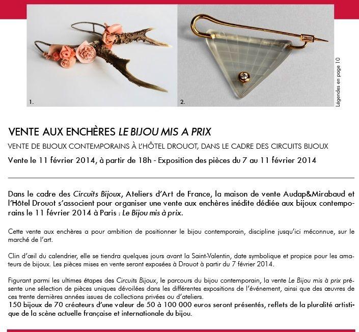 CIRCUITS BIJOUX - vente aux encheres - 11 FEVR    www